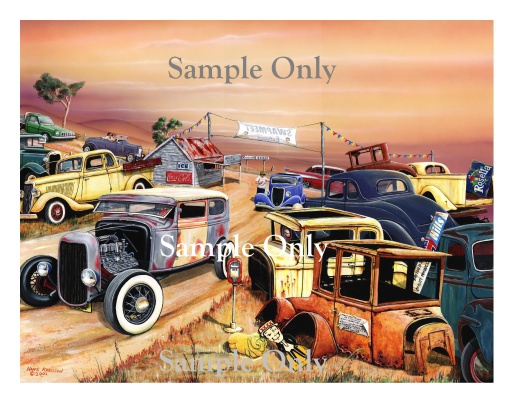 Picture of Aussie Swapmeet Print, Titled, The Entrance