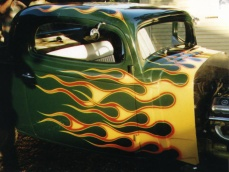 Picture of flames on 34 Chev. Coupe