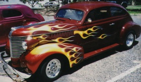 Picture of flames on 37 Pontiac Coupe