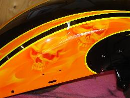 Orange grafix with airbrushed skuls