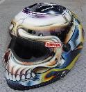 Nigel Hayman's drag racing helmet