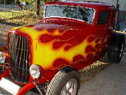 32 Deuce coupe with airbrushed flames