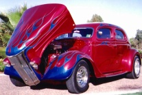 Picture of 48 Ford Pilot, Custom paint in Candy Apple