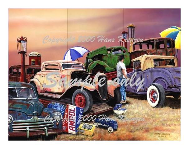Picture of Aussie Swapmeet Print, Titled, Site Number One