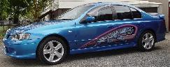 Ford Falcon XR6 with airbrushed graphics