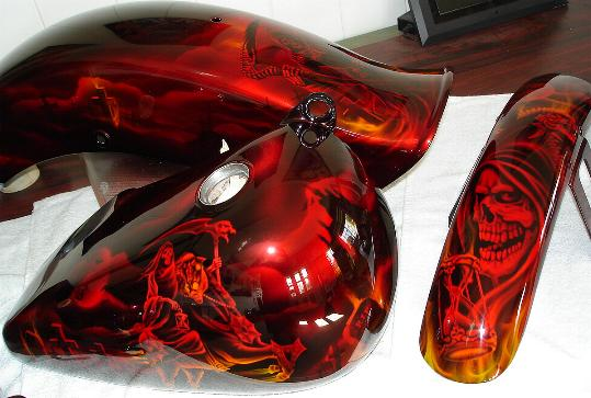 Candy Apple Red Marble Paint
